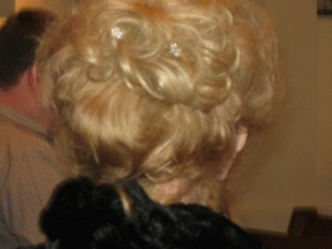 The back of my aunt's head