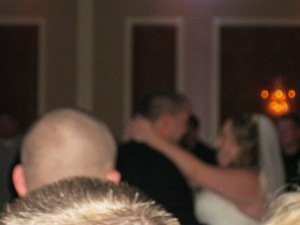 there's the happy couple dancing their first dance